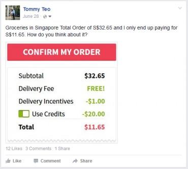 Confirm My Order in Redmart